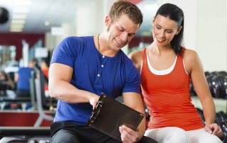Personal Trainer Discussing Workout Plan